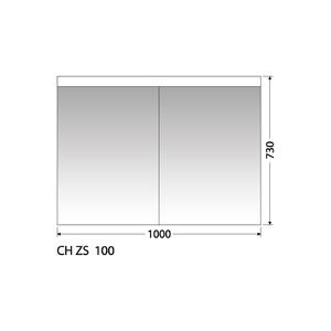 Zrcadlová skříňka Intedoor CH ZS 100