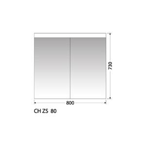 Zrcadlová skříňka Intedoor CH ZS 80