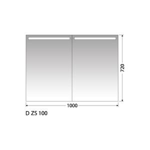 Zrcadlová skříňka Intedoor D ZS 100
