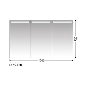 Zrcadlová skříňka Intedoor D ZS 120