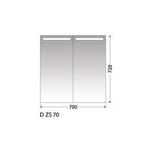 Zrcadlová skříňka Intedoor D ZS 70