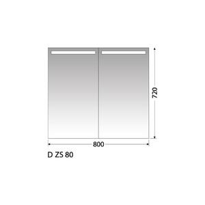 Zrcadlová skříňka Intedoor D ZS 80