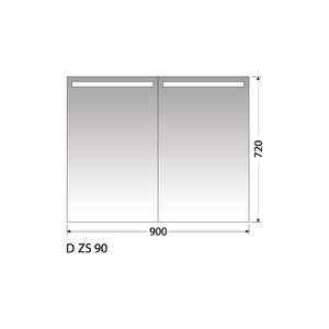 Zrcadlová skříňka Intedoor D ZS 90