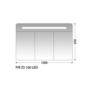 Zrcadlová skříňka Intedoor PIR ZS 100 LED