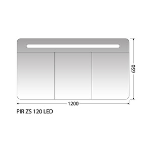 Zrcadlová skříňka Intedoor PIR ZS 120 LED