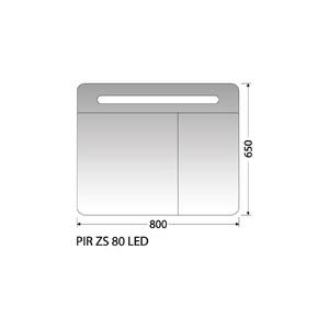 Zrcadlová skříňka Intedoor PIR ZS 80 LED