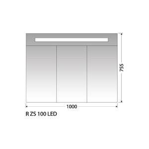 Zrcadlová skříňka Intedoor R ZS 100 LED