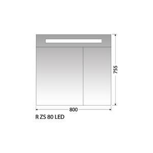 Zrcadlová skříňka Intedoor R ZS 80 LED