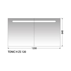 Zrcadlová skříňka Intedoor Tonic H ZS 120