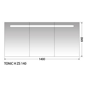 Zrcadlová skříňka Intedoor Tonic H ZS 140