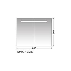 Zrcadlová skříňka Intedoor Tonic H ZS 80